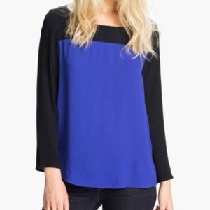 JOIE • Blue Aliso Color Block Blouse Top Sz Small
